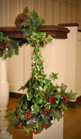 sanctuary decorated with greens during Advent