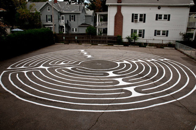 the completed labyrinth