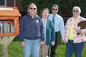 Participants at Little Free Library dedication included town and state officials
