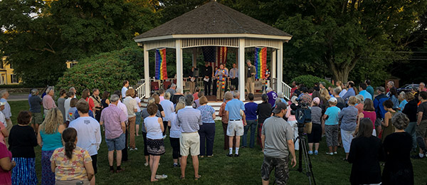 Milton residents gather on town green for Orlando Massacre Vigil