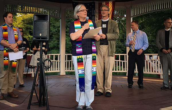 Pastor Shelly Davis offered a homily at the Milton Orlando Massacre Vigil