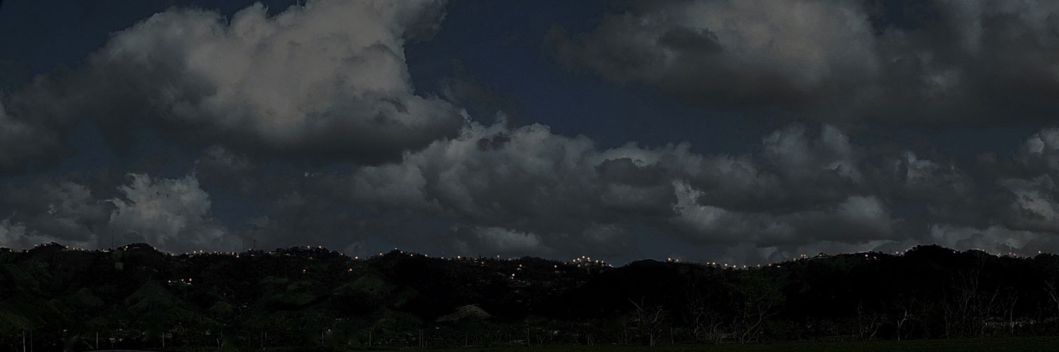 puerto rico landscape dark at night