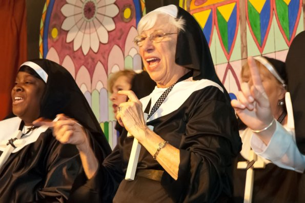 The Singing Nuns of East Church made a triumphant return, presenting a rousing finale act.