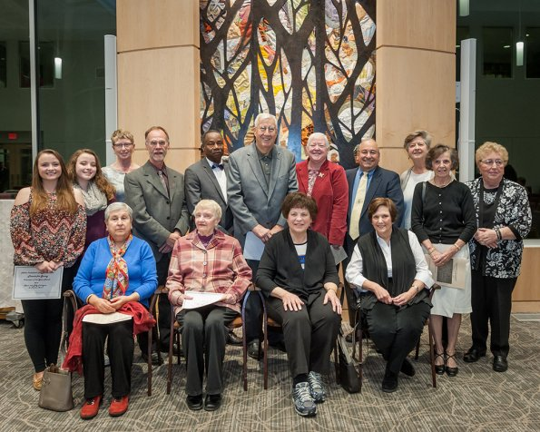 Honorees at Milton's 2016 Thanks for Giving service