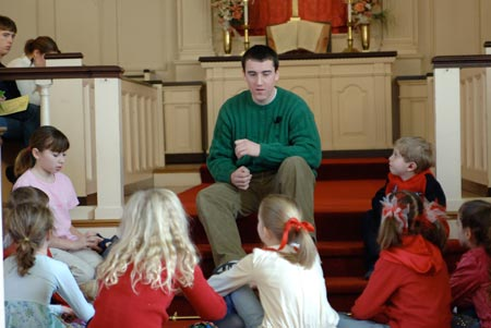 Andrew provides Children's Message